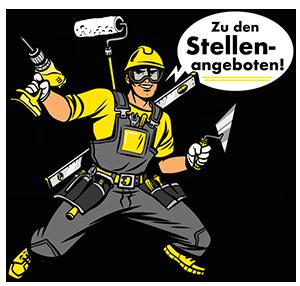 Bauarbeiter Comicfigur die sagt: